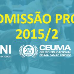 Prouni 2015.2 (2). readmissao